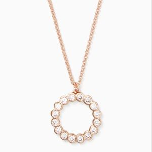 🆕Kate Spade - Rose Gold Diamond Circle Necklace